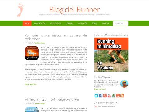 Diseño Página Web para Blog del Runner