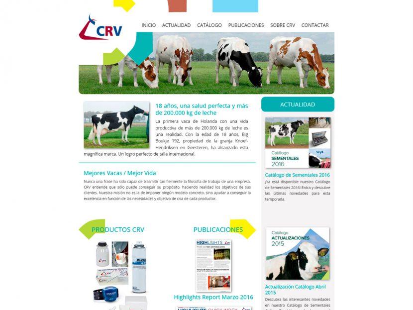 Diseño Página Web para CRV Genetics Spain