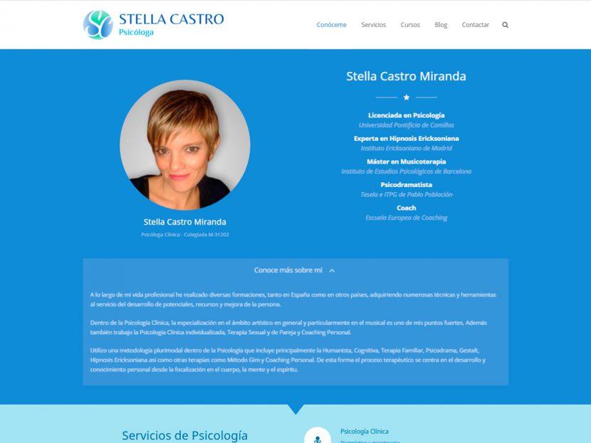 Diseño Página Web para Stella Castro