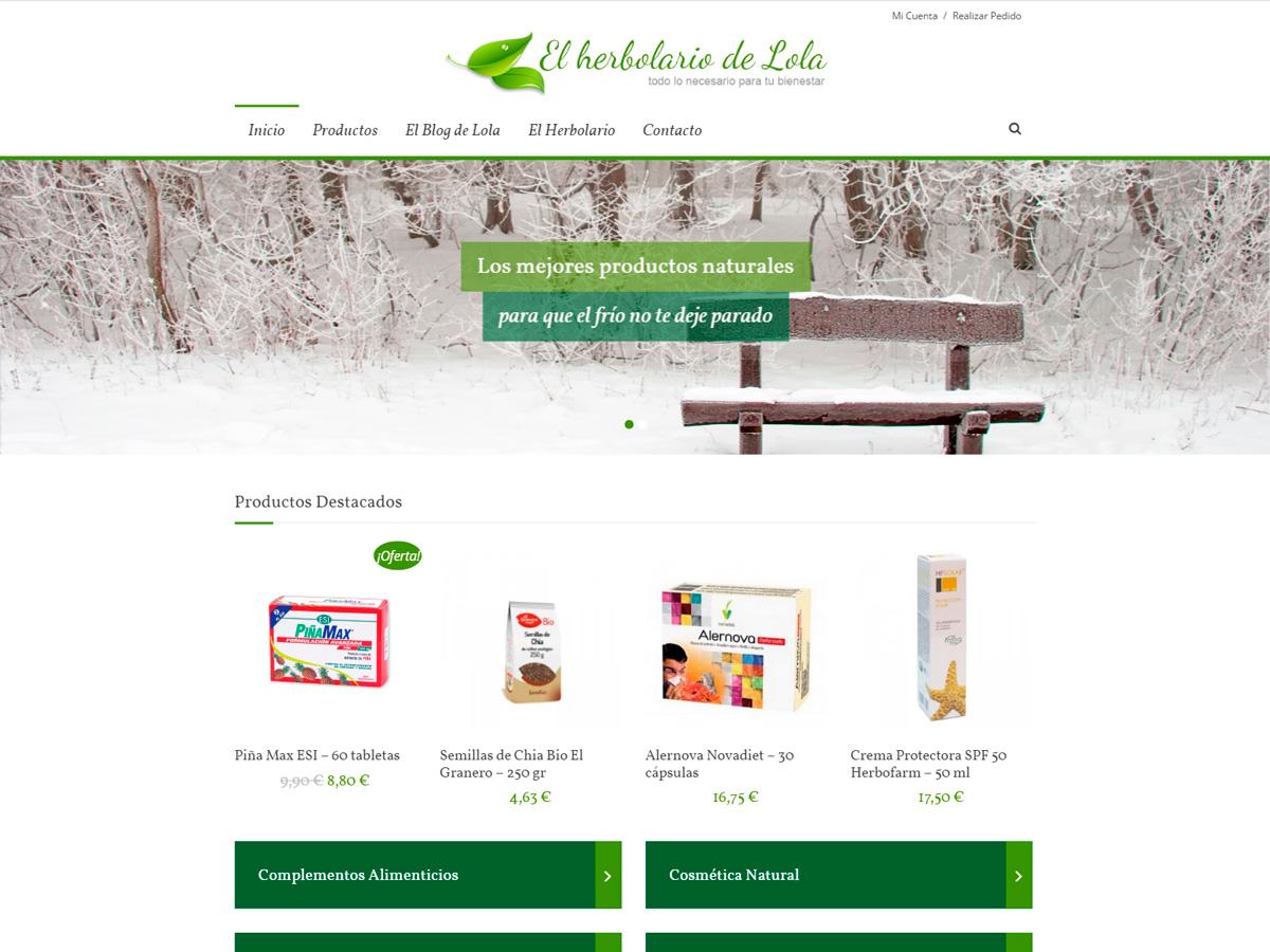 Diseño Página Web para Herbolario Lola