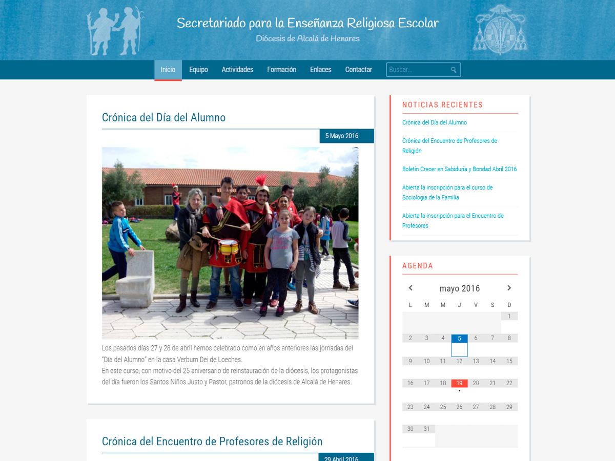 Diseño Página Web para Secretariado ERE Alcalá
