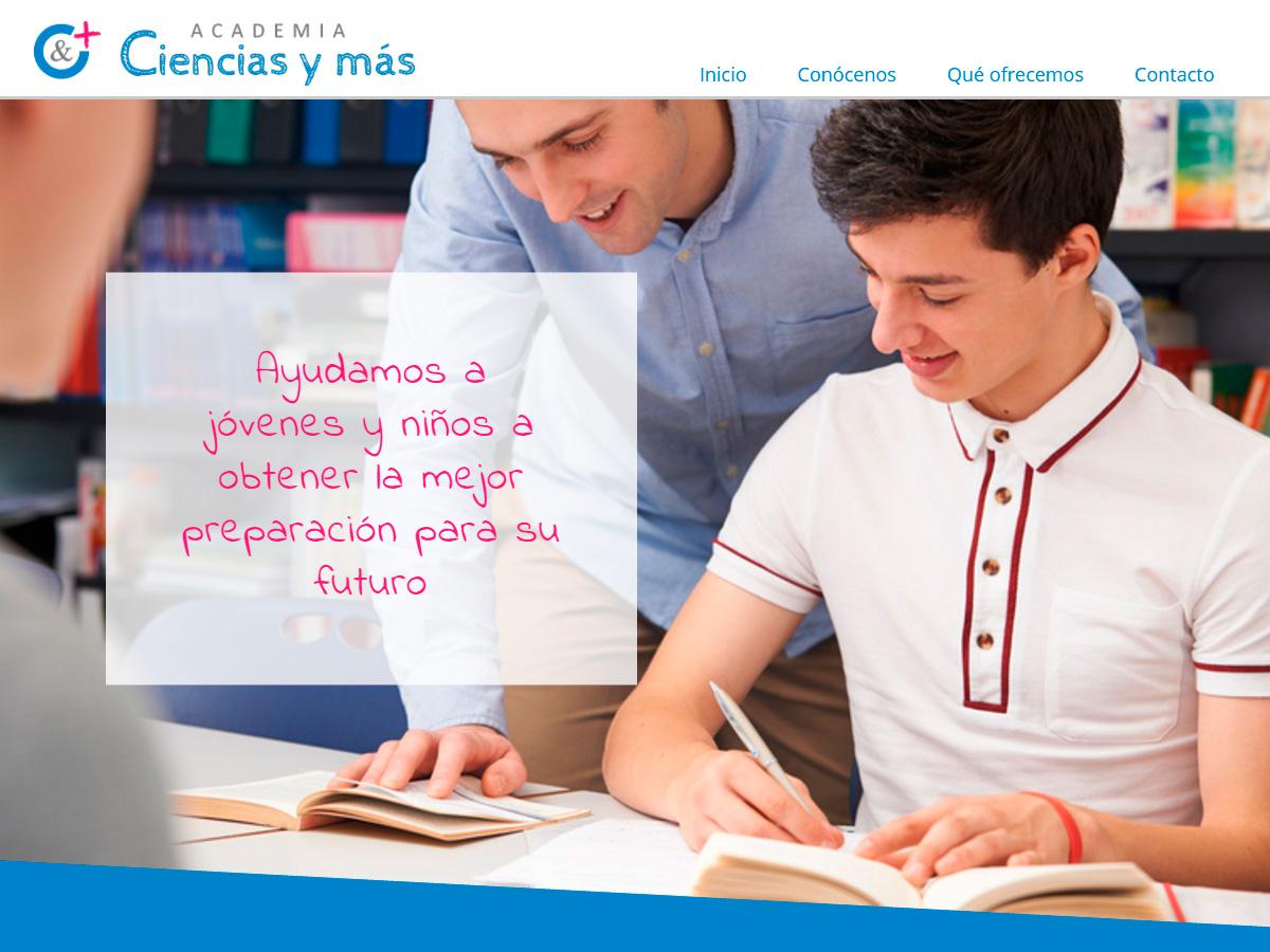 Diseño Página Web para Academia Ciencias y más