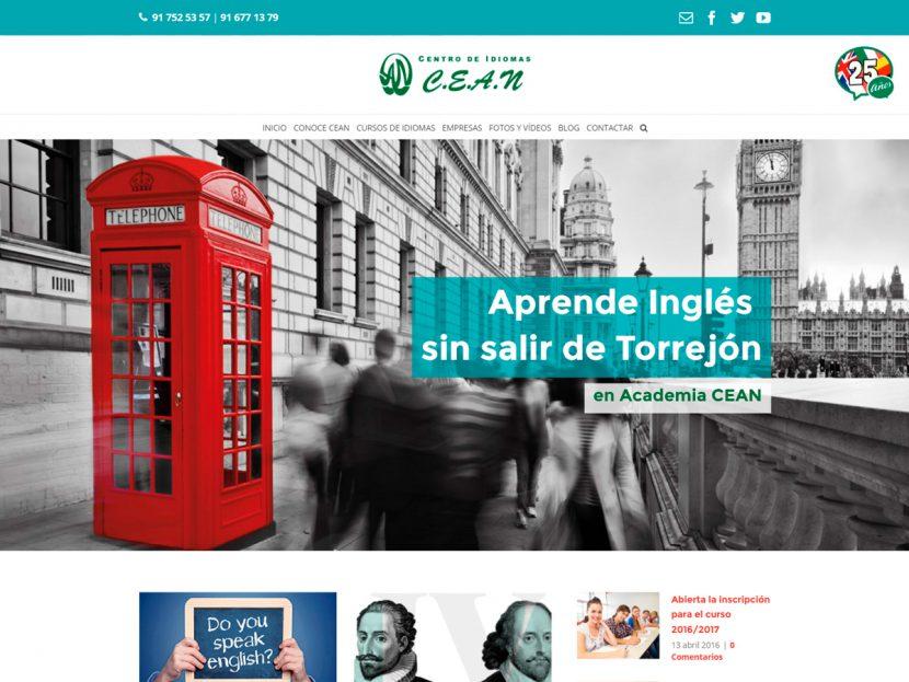 Diseño Página Web para CEAN Idiomas